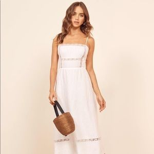 Reformation White Wyoming Dress